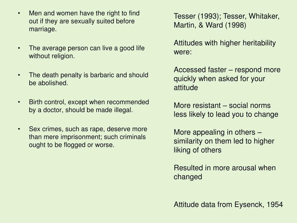 Tesser (1993); Tesser, Whitaker, Martin, & Ward (1998)