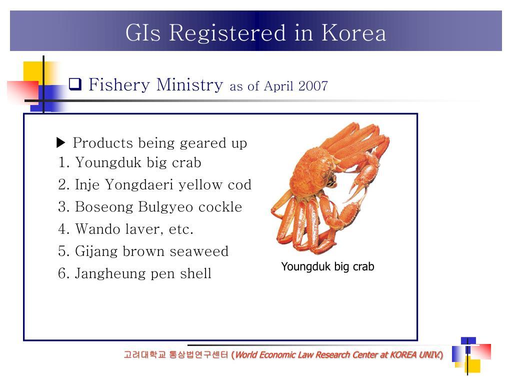 GIs Registered in Korea