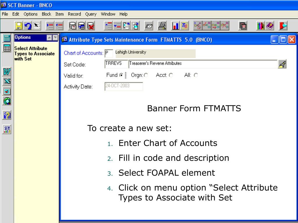 Banner Form FTMATTS