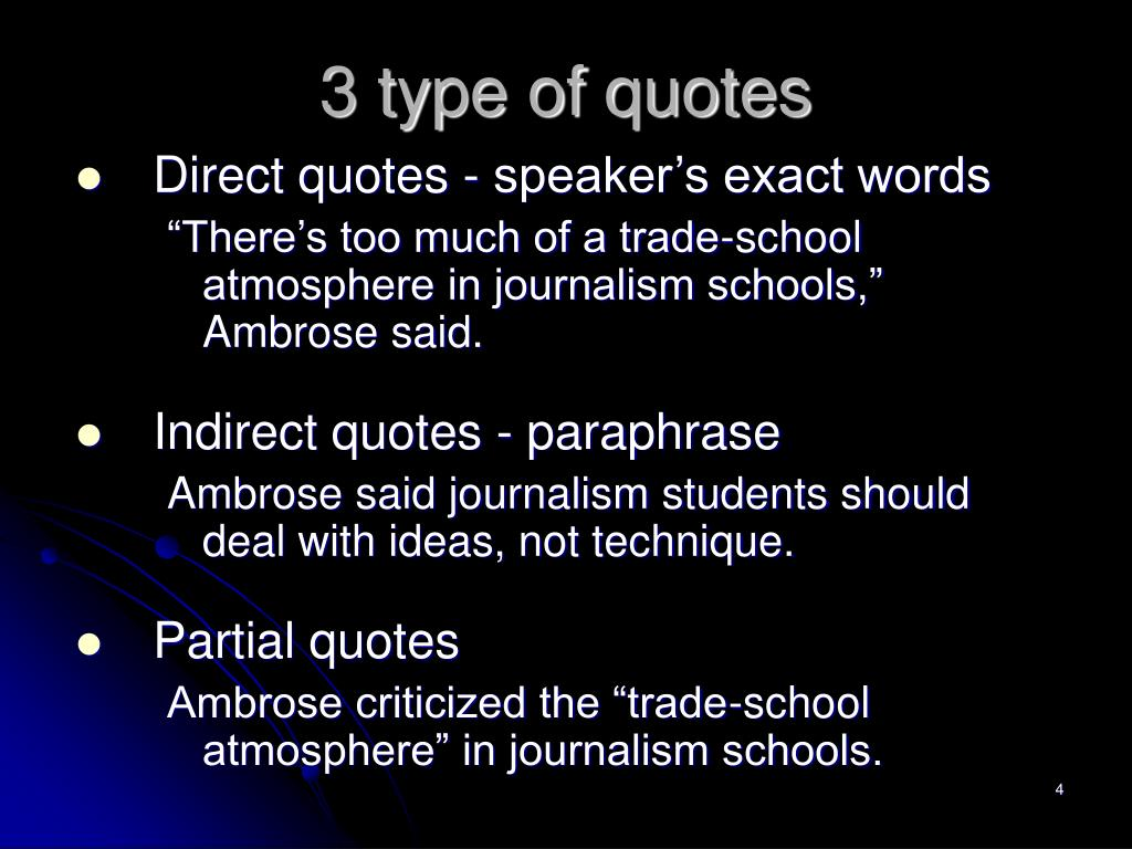 3 type of quotes