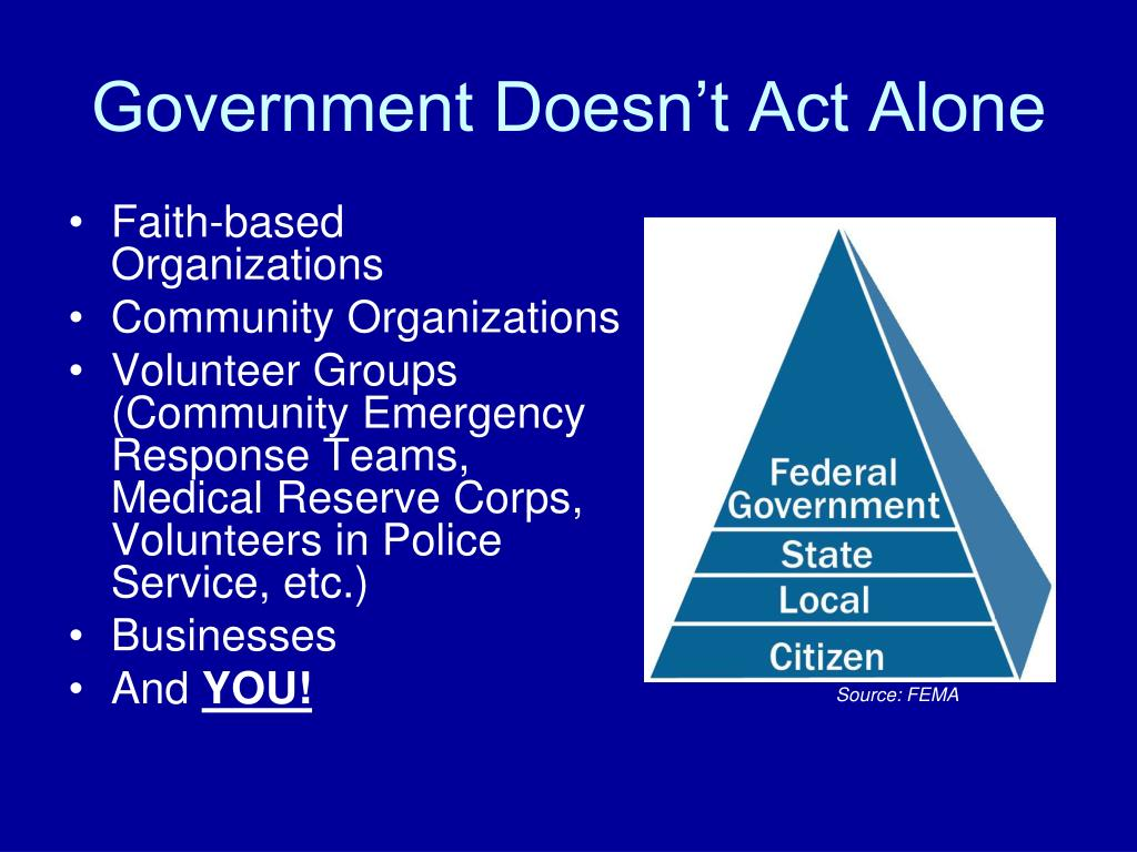Government Doesn't Act Alone