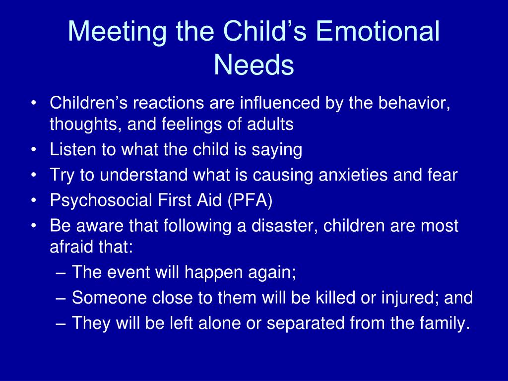 Meeting the Child's Emotional Needs
