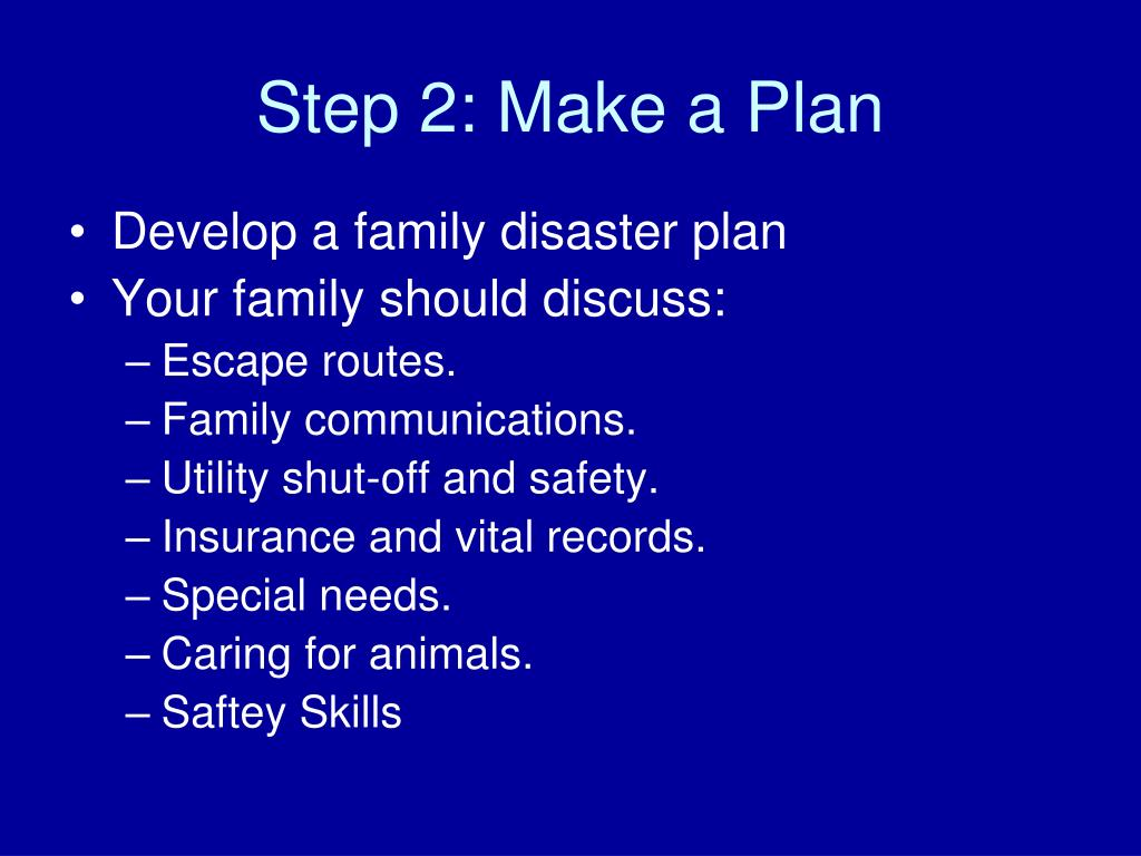 Step 2: Make a Plan