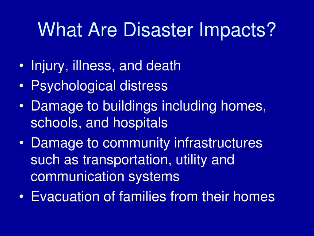 What Are Disaster Impacts?