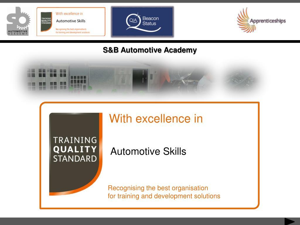 S&B Automotive Academy