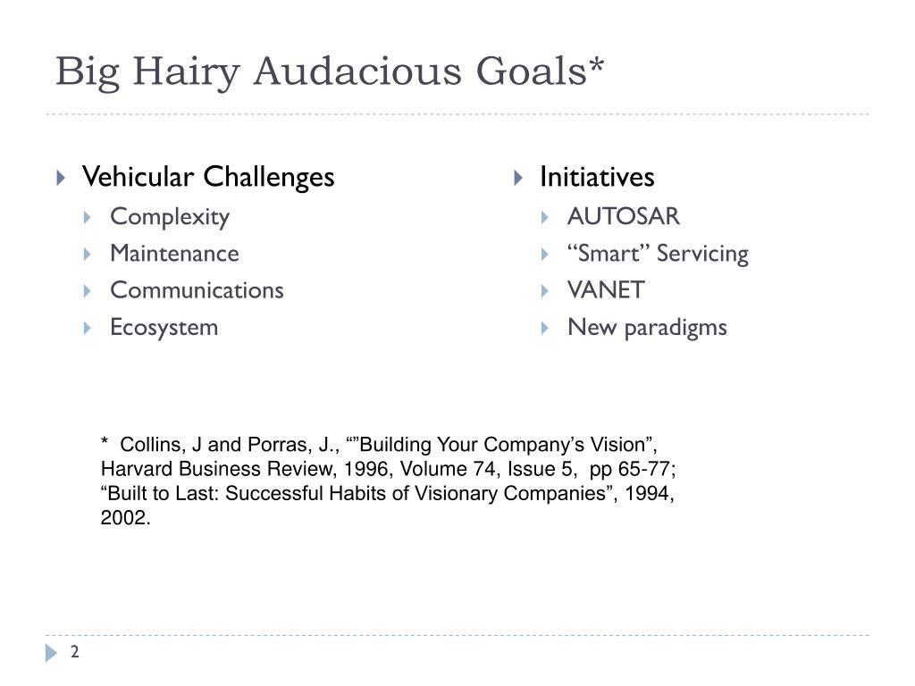 Big Hairy Audacious Goals*