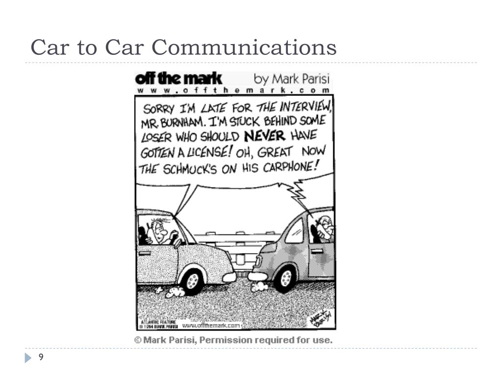 Car to Car Communications