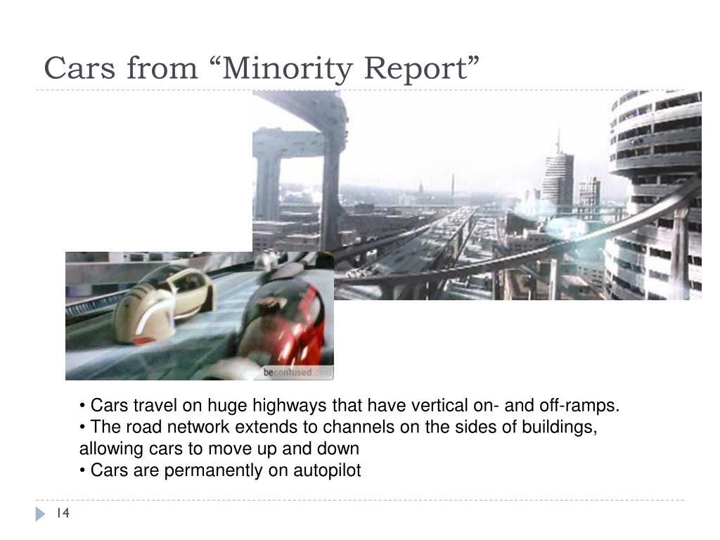 "Cars from ""Minority Report"""