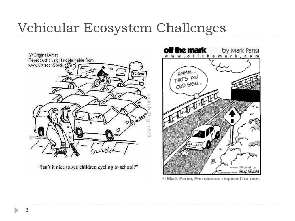 Vehicular Ecosystem Challenges