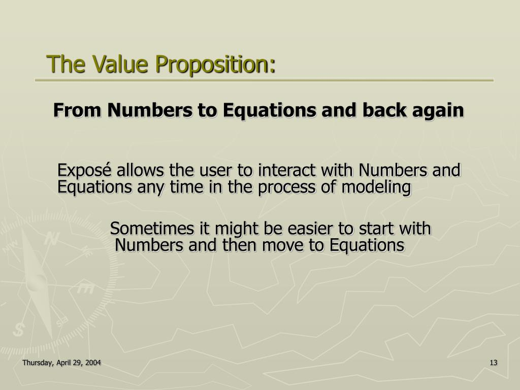 From Numbers to Equations and back again