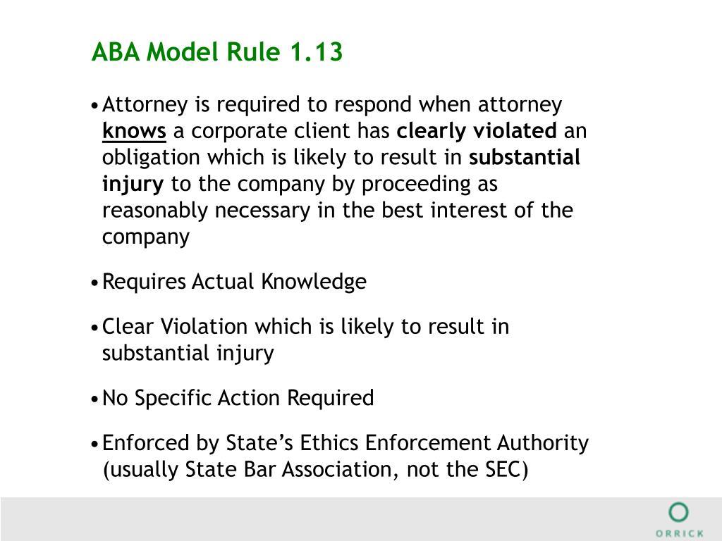 ABA Model Rule 1.13
