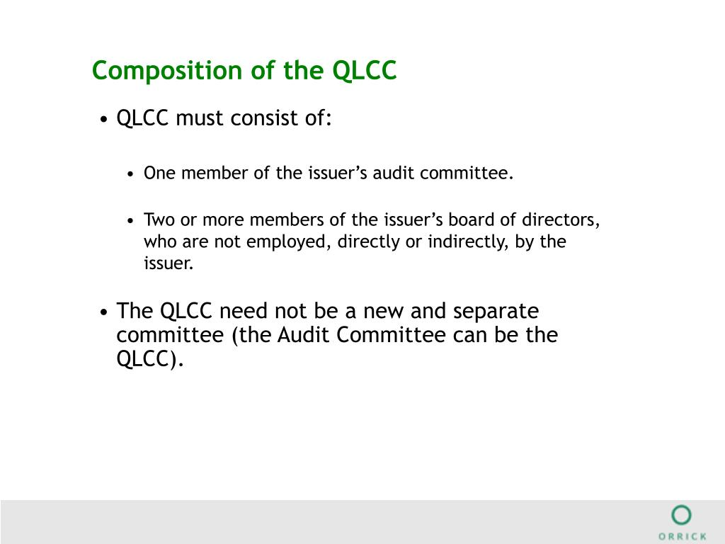 Composition of the QLCC