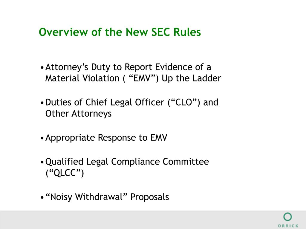 Overview of the New SEC Rules