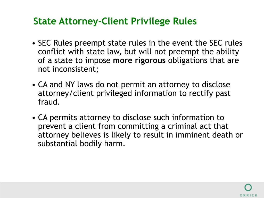 State Attorney-Client Privilege Rules