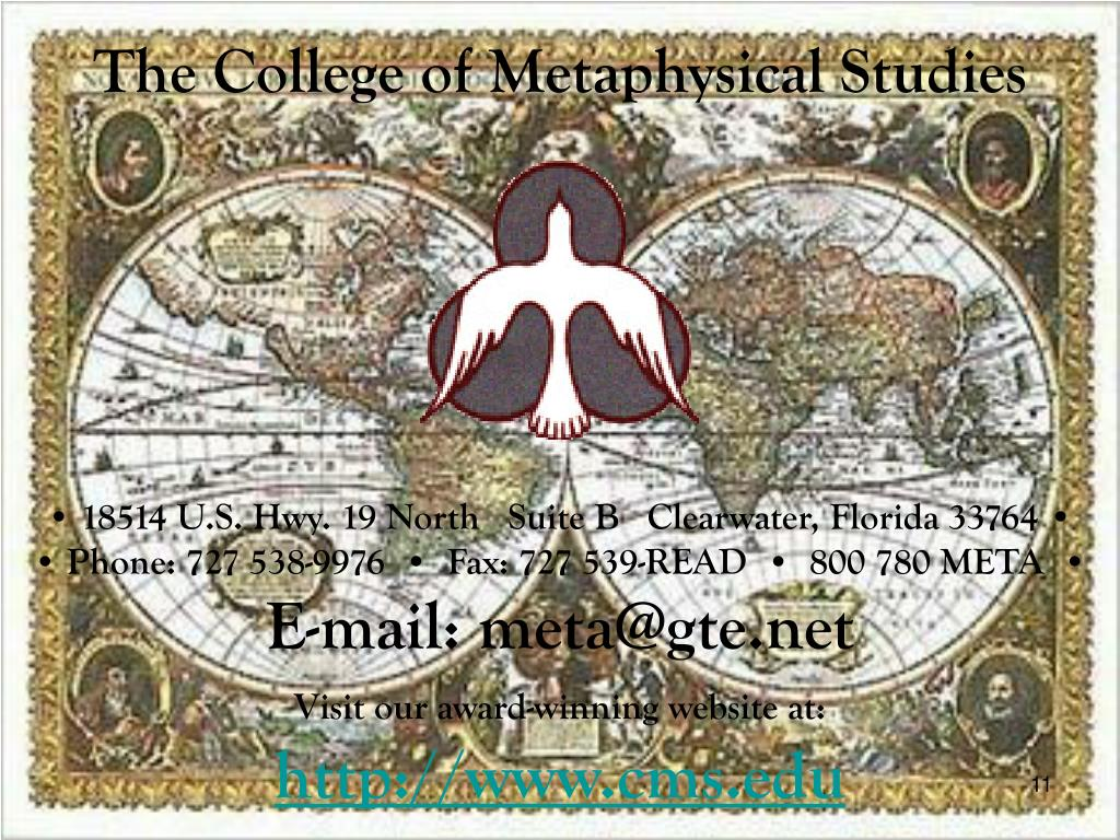 The College of Metaphysical Studies