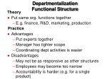 departmentalization functional structure