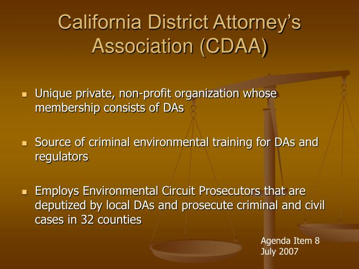 California district attorney s association cdaa