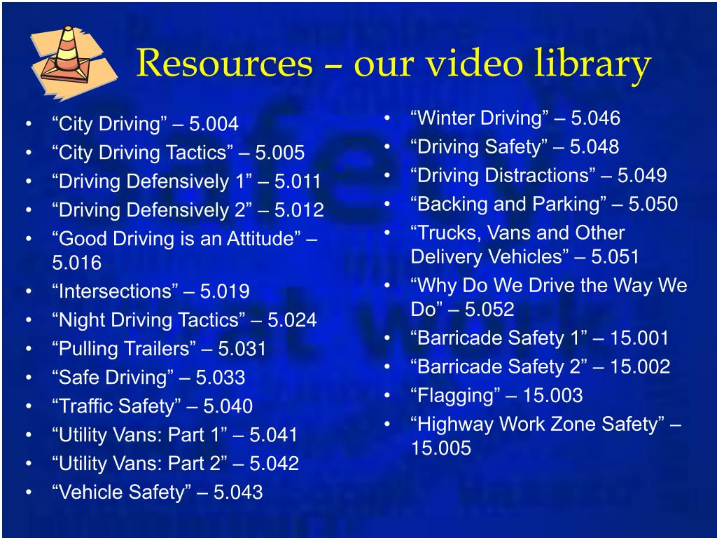 Resources – our video library
