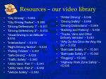 resources our video library