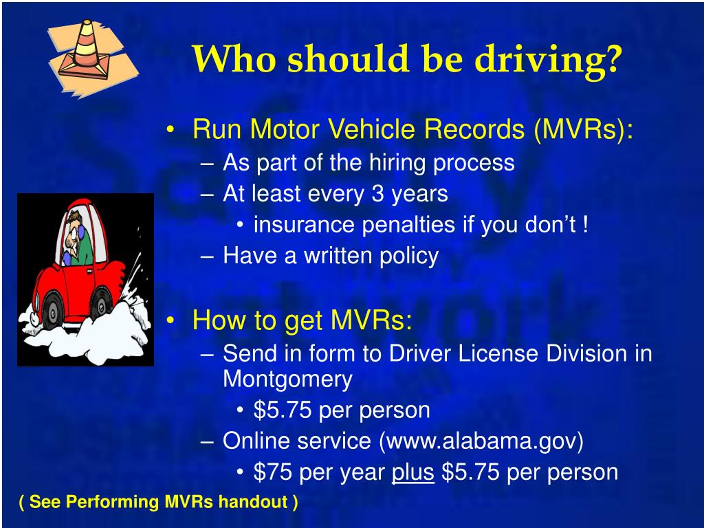 Who should be driving?