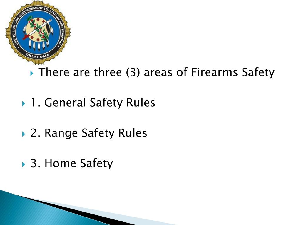 There are three (3) areas of Firearms Safety