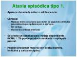 ataxia epis dica tipo 1