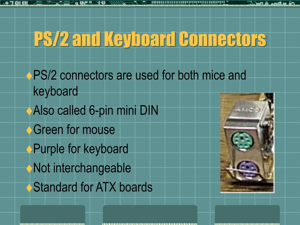 PS/2 and Keyboard Connectors