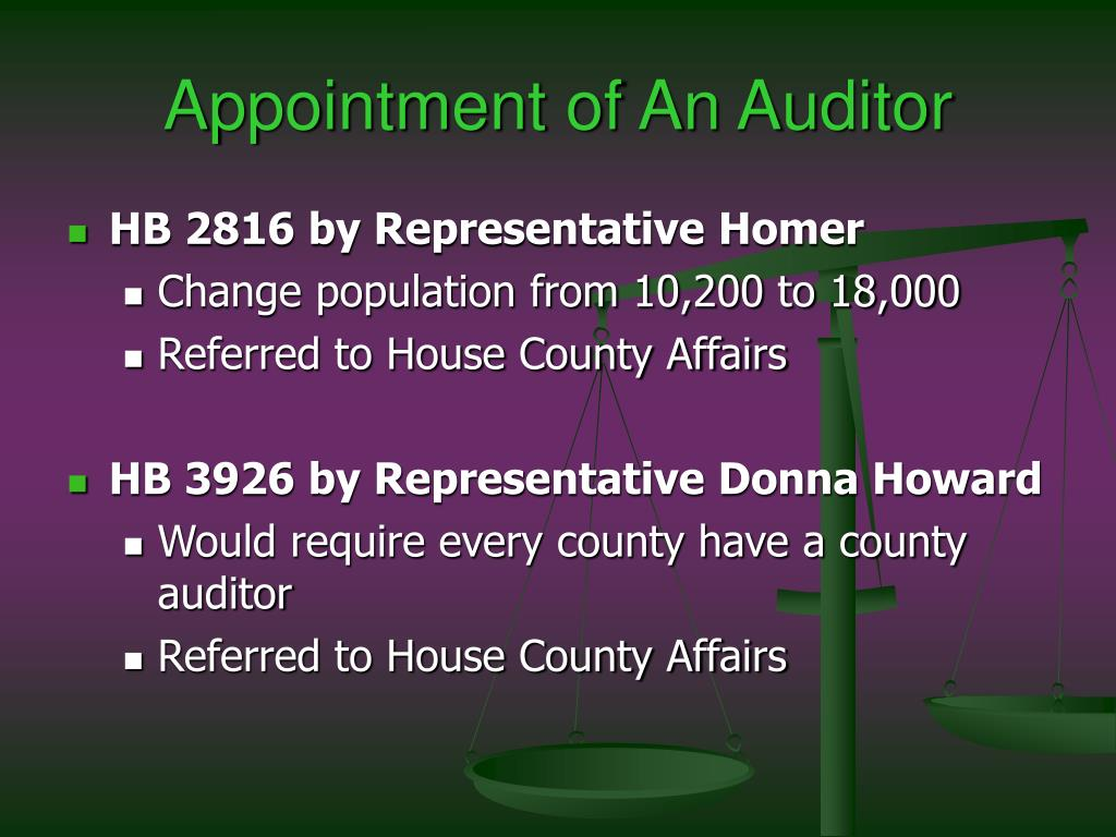 Appointment of An Auditor