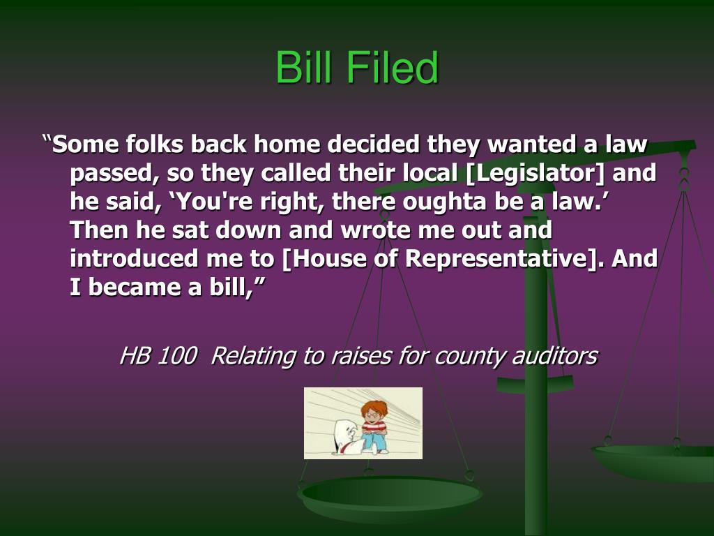 Bill Filed
