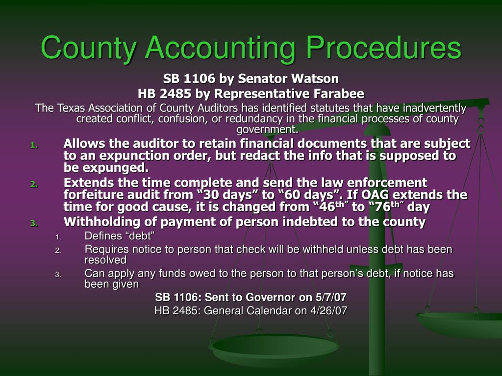 County Accounting Procedures