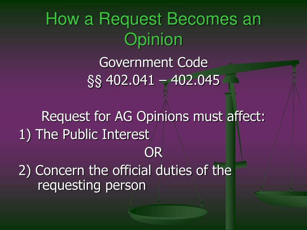 How a Request Becomes an Opinion