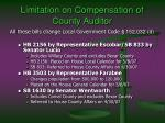 limitation on compensation of county auditor