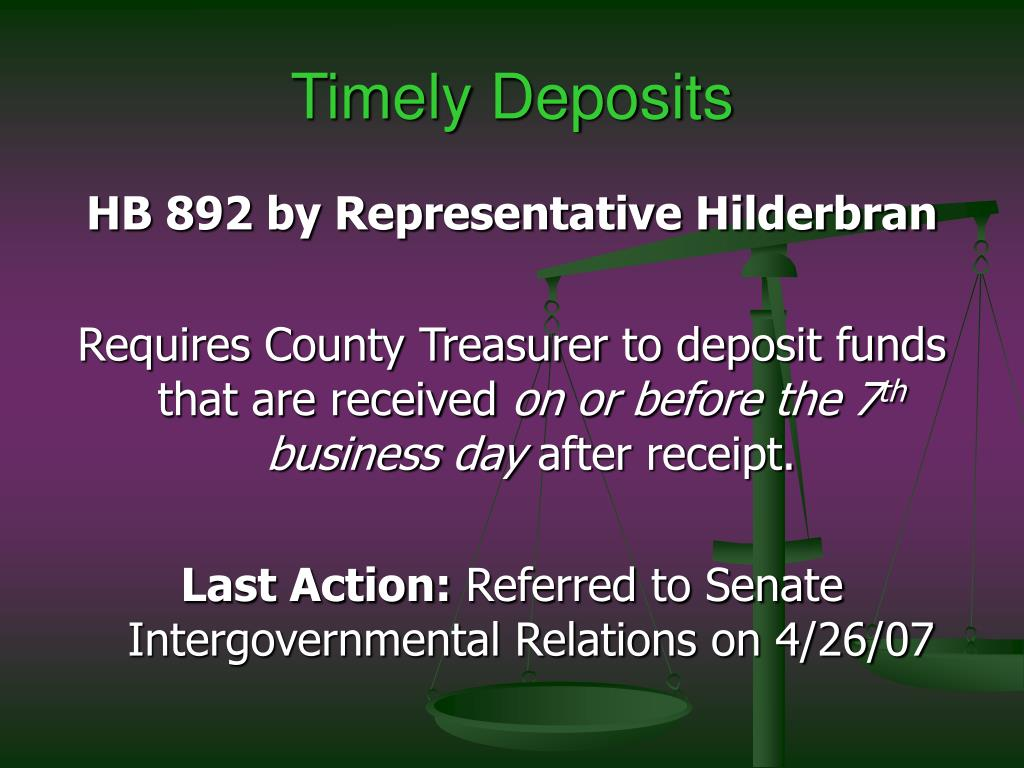 Timely Deposits
