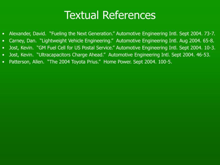 Textual References