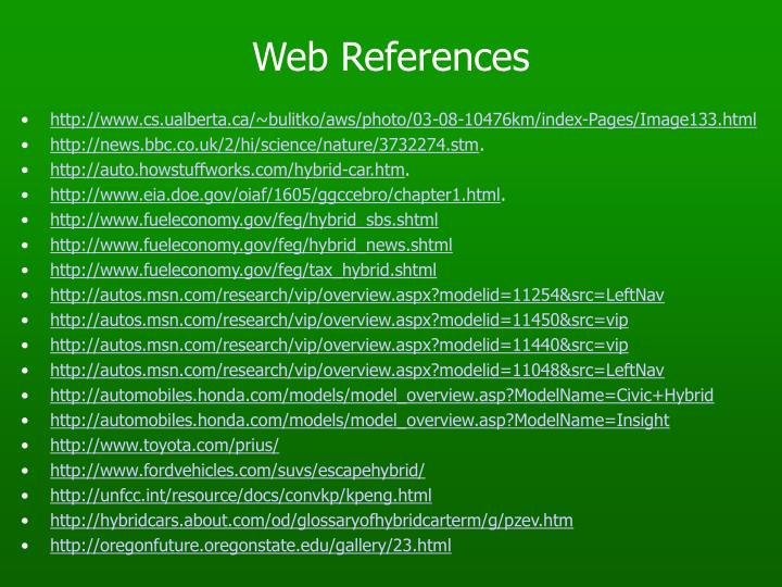 Web References