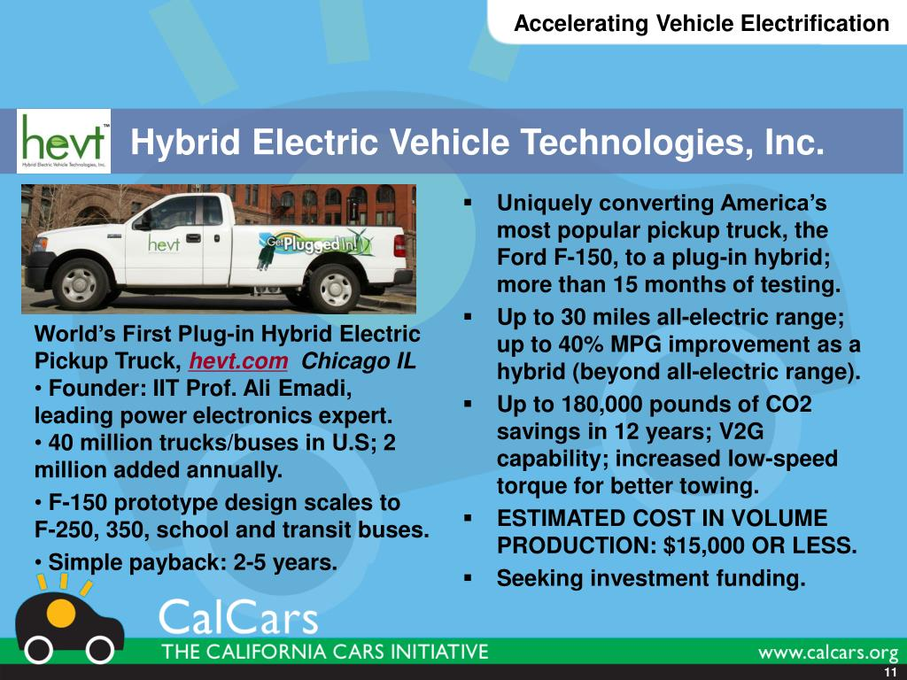 Hybrid Electric Vehicle Technologies, Inc.
