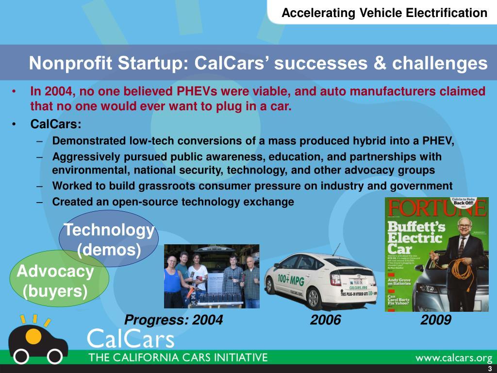 Nonprofit Startup: CalCars' successes & challenges