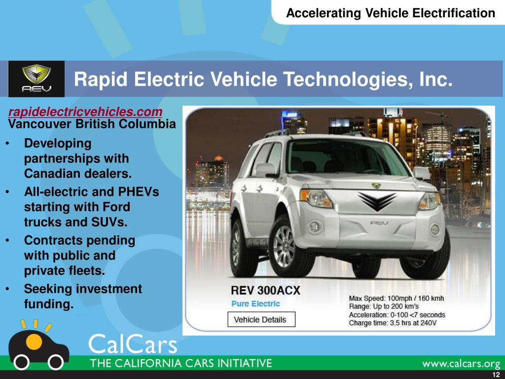 Rapid Electric Vehicle Technologies, Inc.