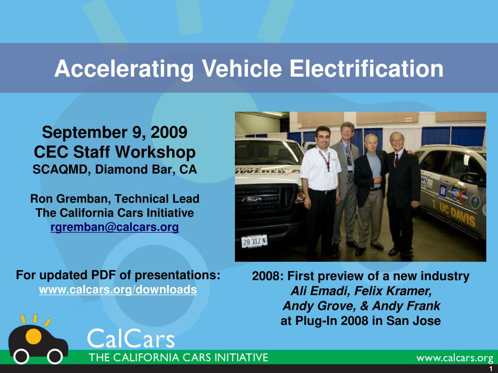 Accelerating Vehicle Electrification