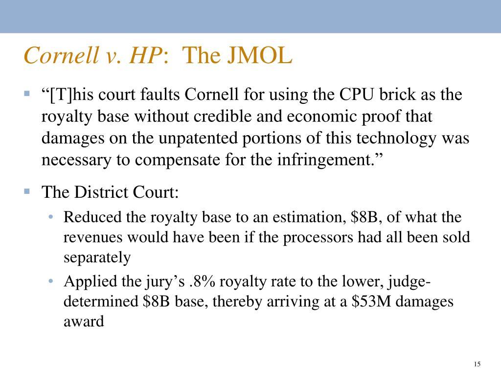 Cornell v. HP
