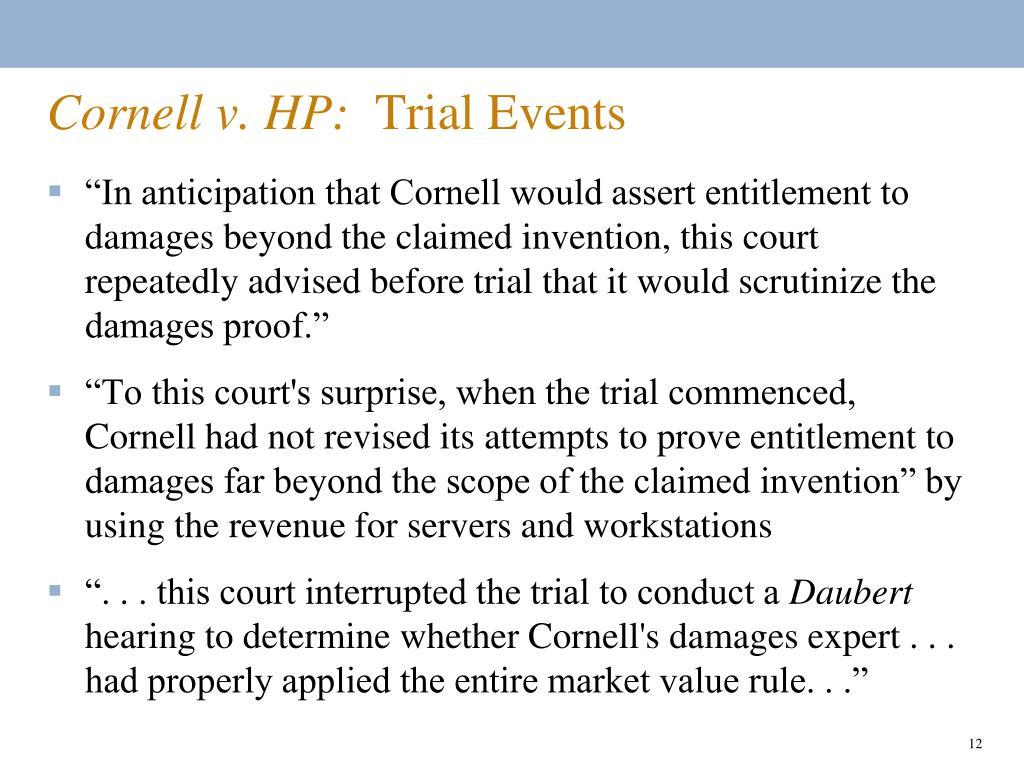 Cornell v. HP: