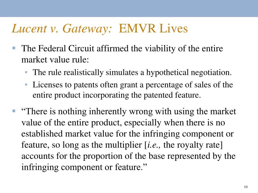 Lucent v. Gateway: