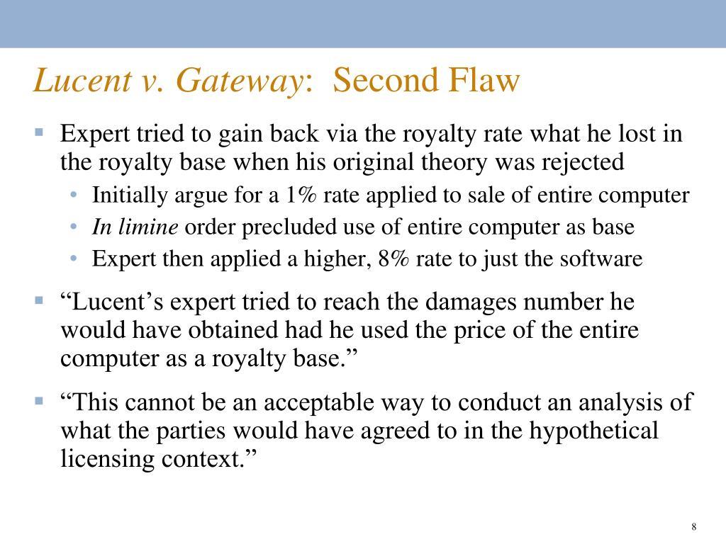 Lucent v. Gateway
