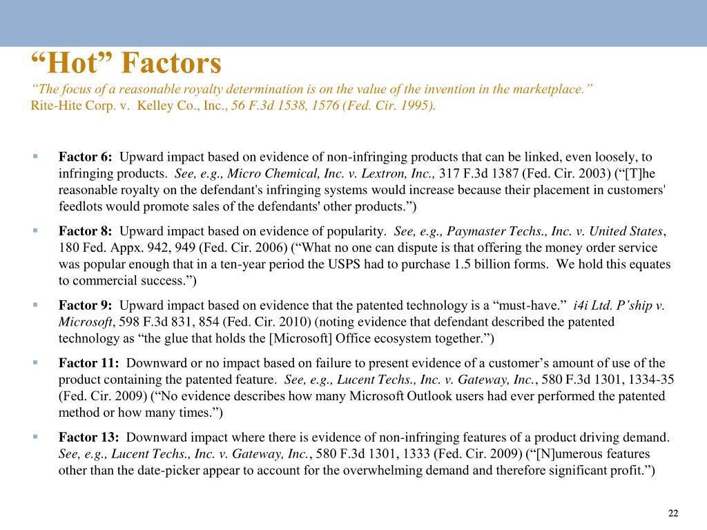 """""""Hot"""" Factors"""