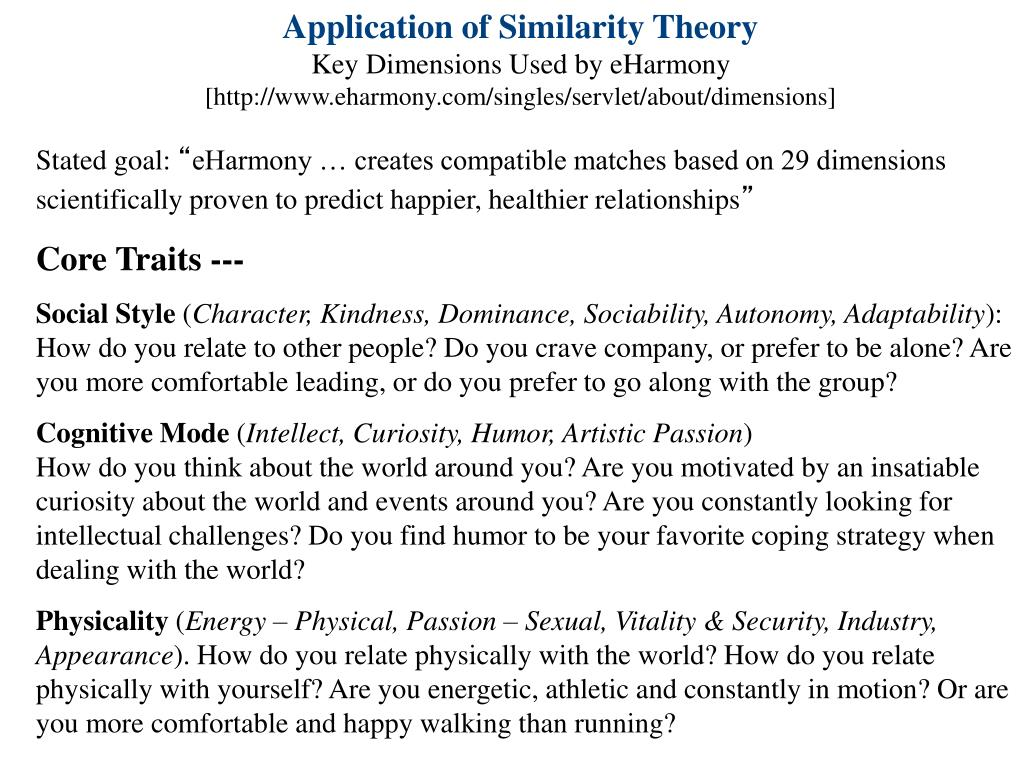 Application of Similarity Theory