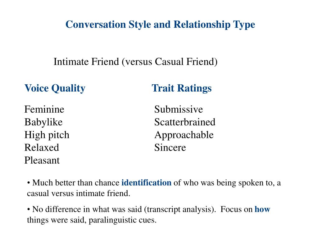 Conversation Style and Relationship Type