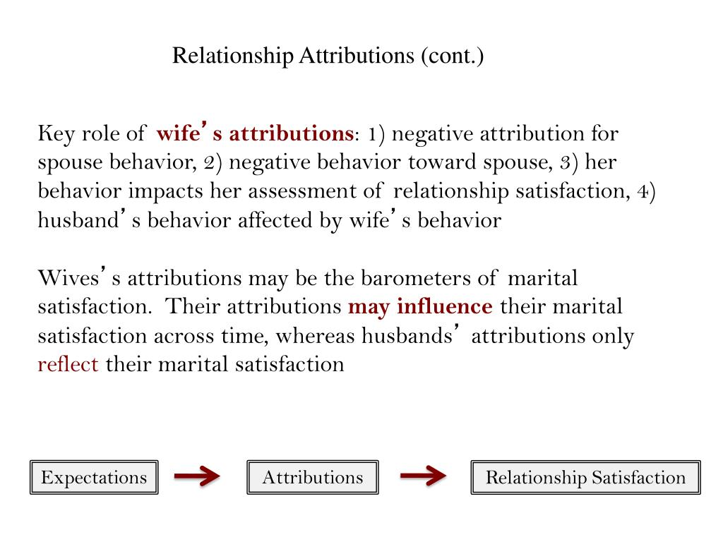 Relationship Attributions (cont.)