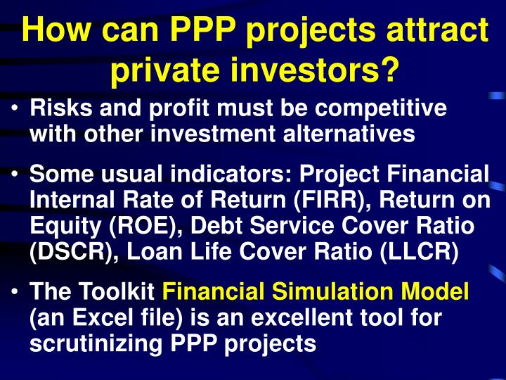 How can PPP projects attract private investors?