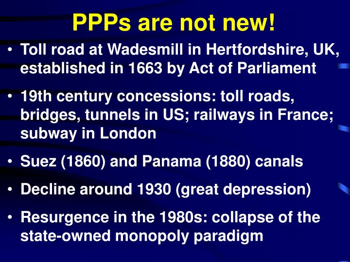 Ppps are not new