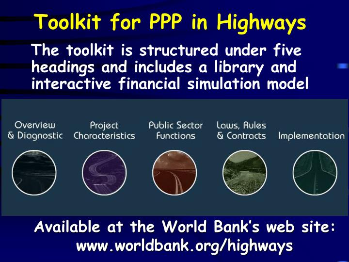 Toolkit for PPP in Highways
